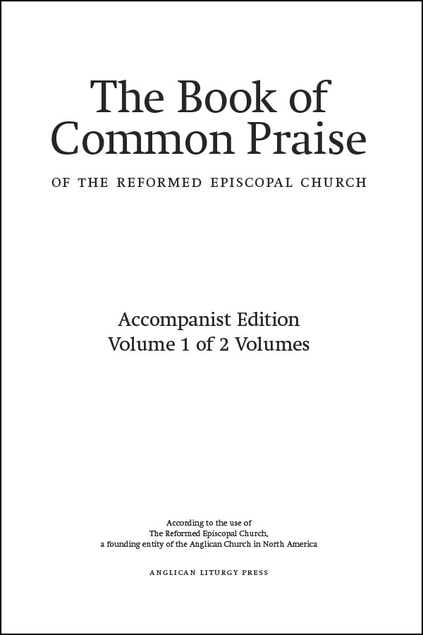 book cover of the book of common praise 2017 accompanist edition volume 1 and 2