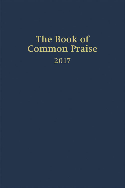 book cover of the book of common praise 2017