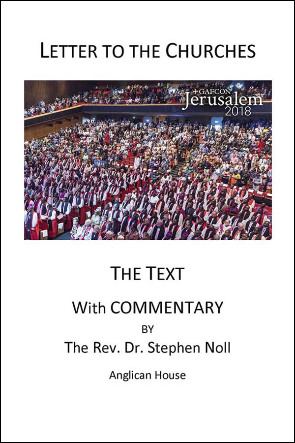 book cover of letter to the churches text with commentary by stephen noll