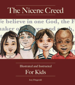 book cover of the nicene creed illustrated and instructed for kids english edition by joey fitzgerald